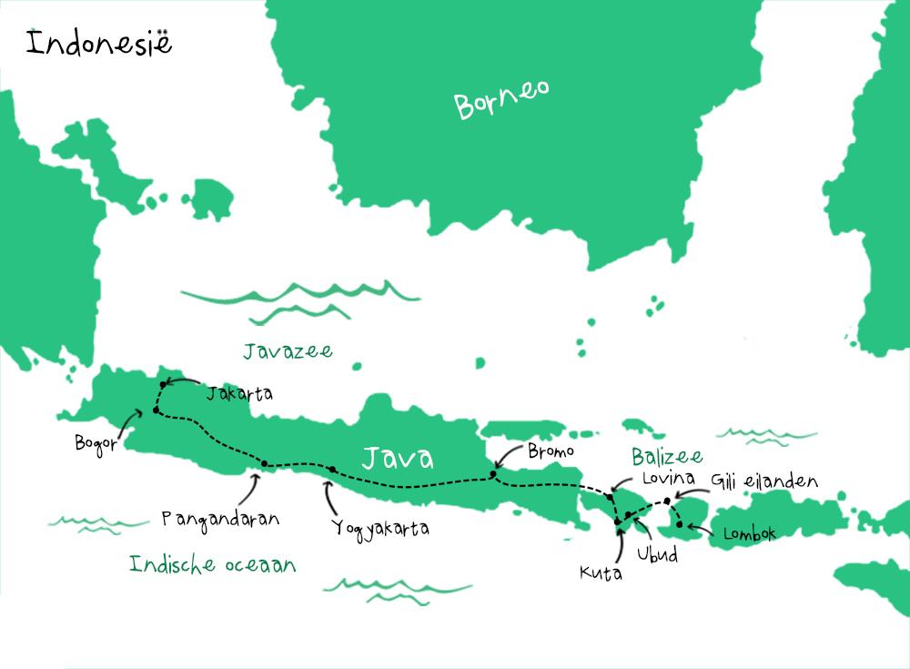 Route Indonesie