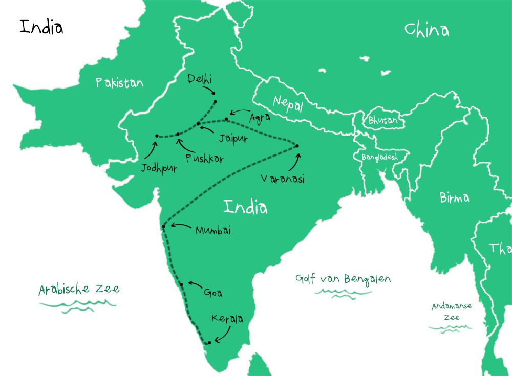 Route India