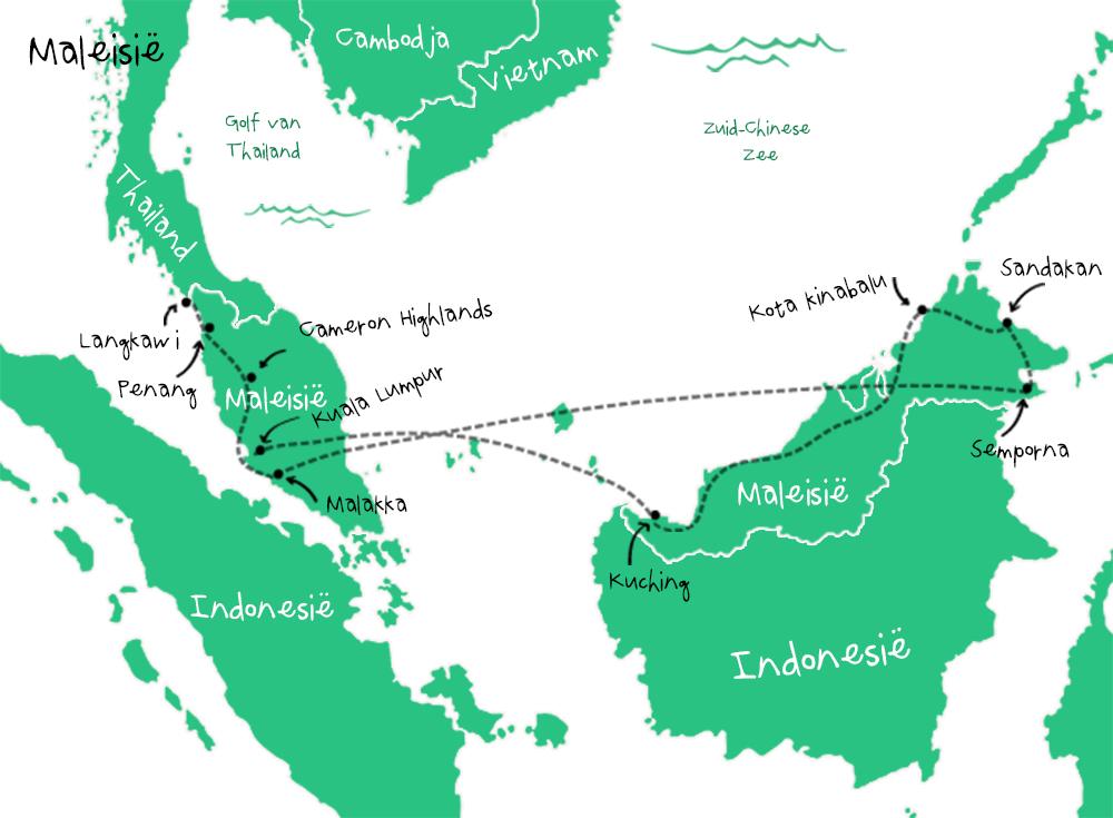 Route Maleisië
