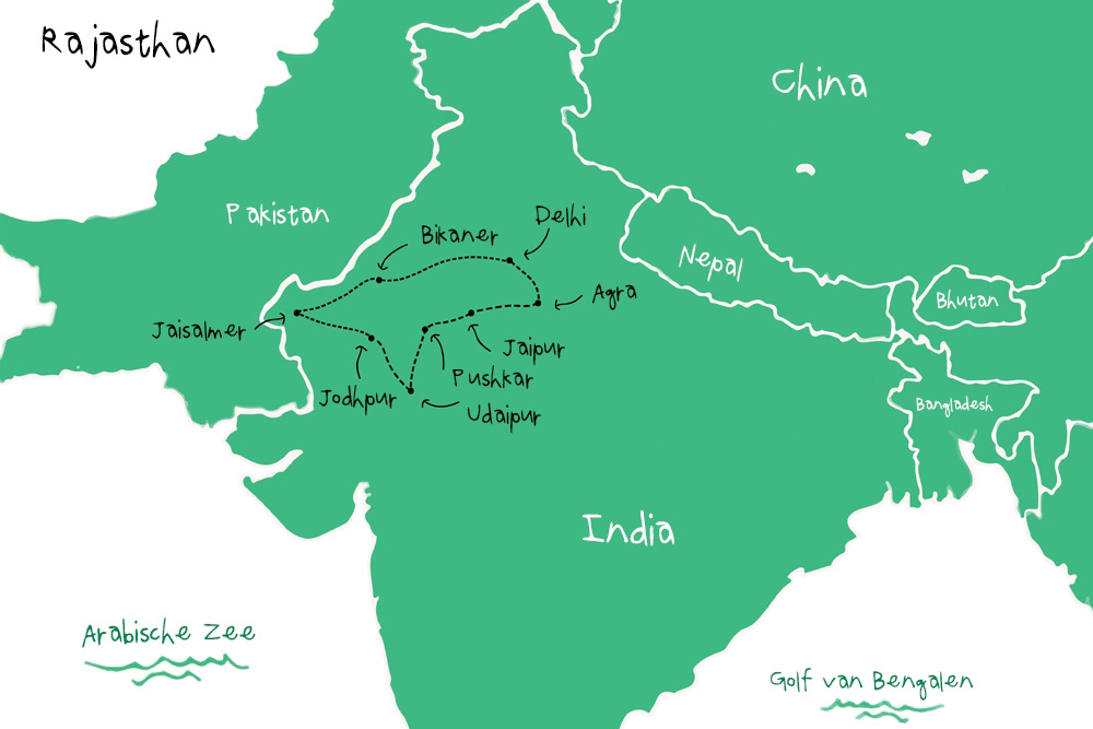 Route Rajasthan