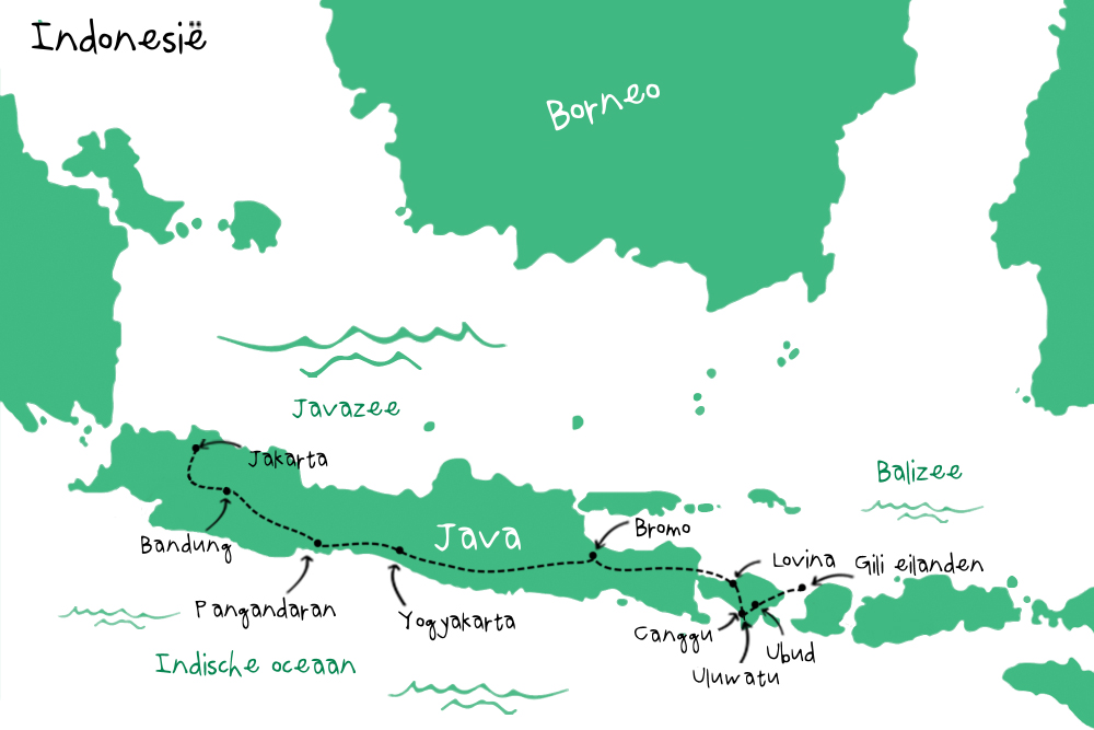 Route Indonesie