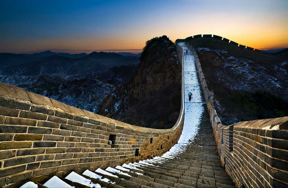 Chinese muur backpacken in azie - Muur van de ingang ...