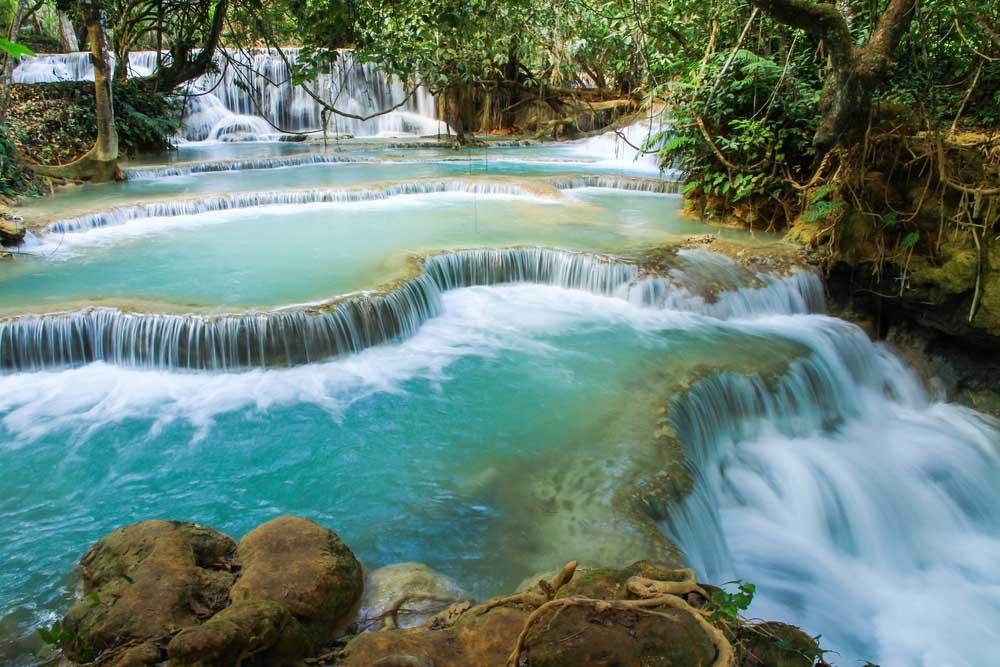 Kuang Si watervallen