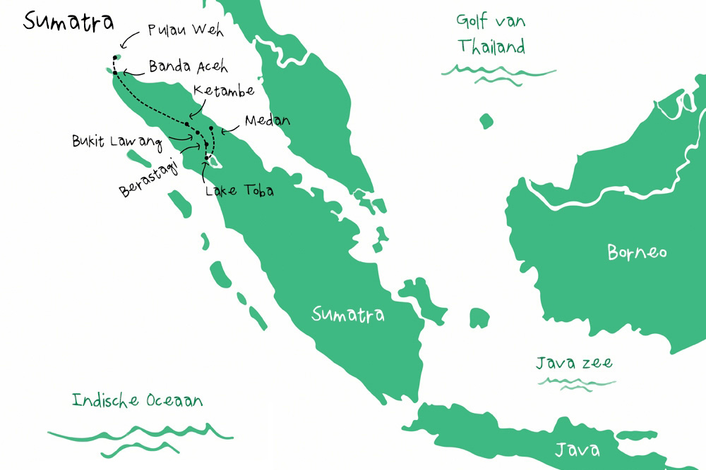 Route Sumatra