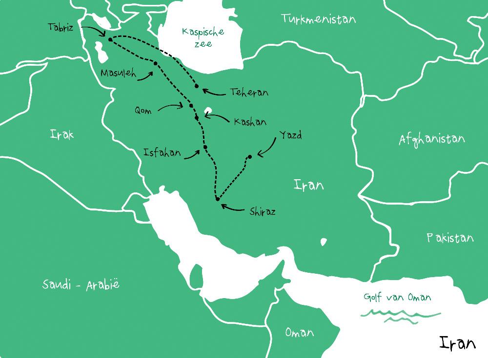 Route Iran